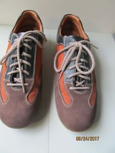 Image is loading I-Travel-Brown-Leather-Canvas-Walking-Shoes-Fashion-