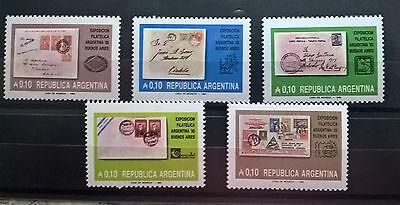 100% QualitäT Argentinien Argentina 1985 Satz Stamp On Stamp Marke Auf Marke Mnh Postfrisch