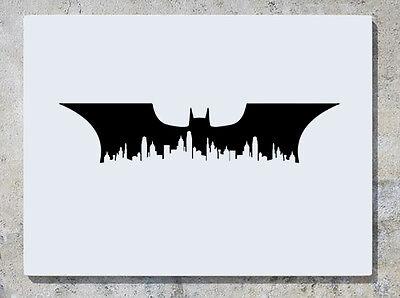 Batman Gotham City Skyline Bat Justice League Decal Wall Art Sticker Picture