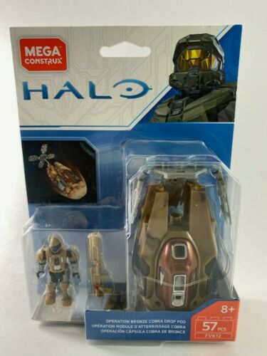 Operation Bronze Cobra Drop Pod FVK12 Halo Mega Construx NIB