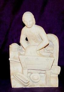 Statuette-Mittelalter-Stein-Dekoration-Mittelalter-Boulanger-Mittelalterlich