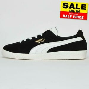 Puma-Suede-Classic-Men-039-s-Te-Ku-Casual-Retro-Vintage-Trainers-Black-UK-8-Only