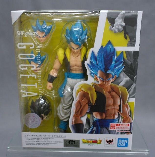 S.h. figuarts super saiyan god gogeta dragon ball super bandai spirits new (c)