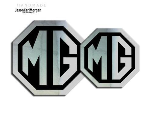 Mg TF 2009 en adelante Emblema Insignia Insertos Delantero Trasero 70 mm 90 Mm Cromo Negro insignias