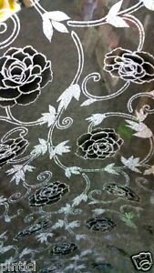 tischdecke tischfolie tischschutz schutzfolie 90cm transparent mit muster 2mm ebay. Black Bedroom Furniture Sets. Home Design Ideas