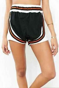UNIF-Jogger-Short-Wos-med-Urban-Outfitters-Dolls-black-orange-white-NEW-tag-5523