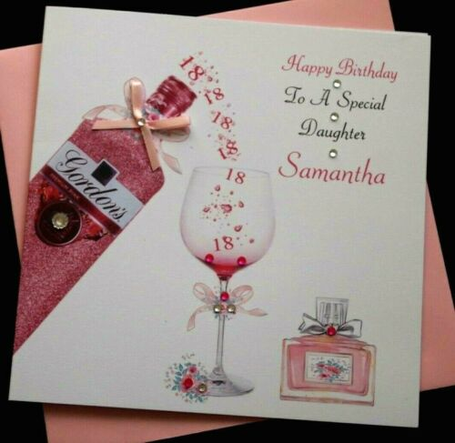Handmade Personalised Birthday Card  Daughter Granddaughter 21st 18th 30th 50th