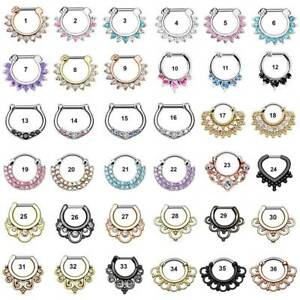 36-Styles-Septum-Clicker-Nose-Rings-Hinged-Segment-Ring-Crystal-Gem-Body-Jewelry