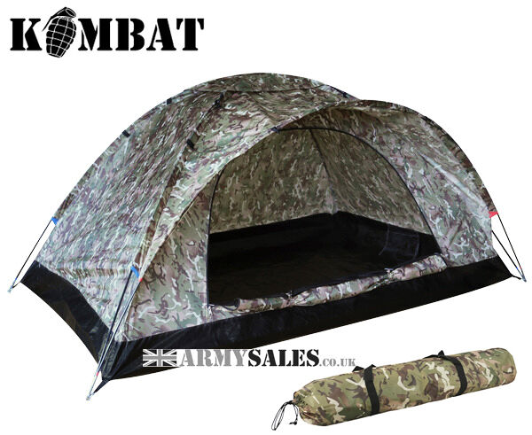 Kombat Ranger 2 Man Single Skin Lightweight Dome Alternative Tent BTP Camo MTP Alternative Dome 090c57