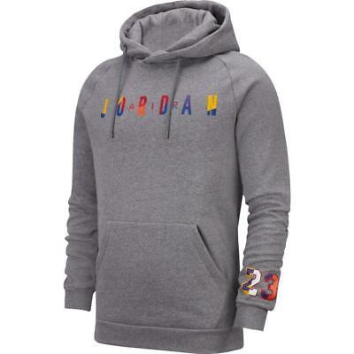 Felpa pullover in fleece con cappuccio jordan dna grigio nike grigio cappuccio
