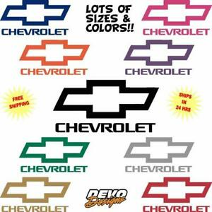 Chevy Bowtie vinyl decal sticker car truck van wall