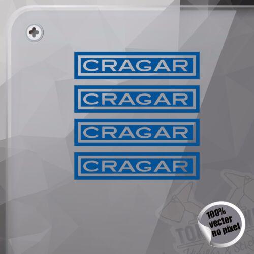 PEGATINA OLD LOGO CRAGAR WHEELS DECAL VINYL STICKER AUTOCOLLANT ADESIVI