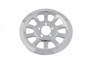 Outer Pulley Cover 70 Tooth Chrome V-Twin 42-0682