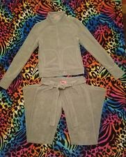 Juicy Couture 💚 Terry Tracksuit Sage Army Green size P/Small
