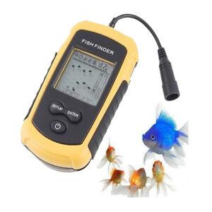 A31-100m-Tragbar-Echolot-Sonar-Sensor-LCD-Alarm-Fischfinder-Fischortungsgeraet