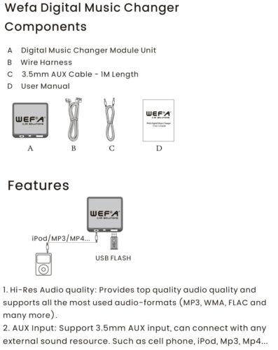 Renault Modus MP3 SD Lector de Tarjetas USB CD AUX entrada adaptador de audio digital