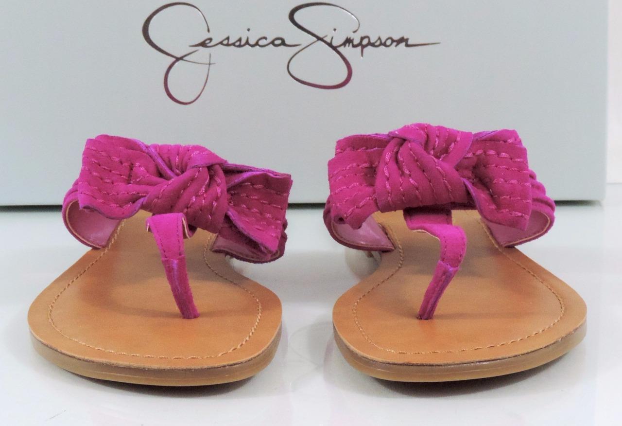 donna scarpe Jessica Simpson Jumba Flip Flip Flip Flops Thong Sandals Suede rosa Dimensione 7.5 a8dee0