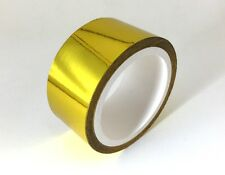 "SELF ADHESIVE REFLECTIVE GOLD HIGH TEMPERATURE HEAT WRAP TAPE 15 FEET X 2"" WIDE"