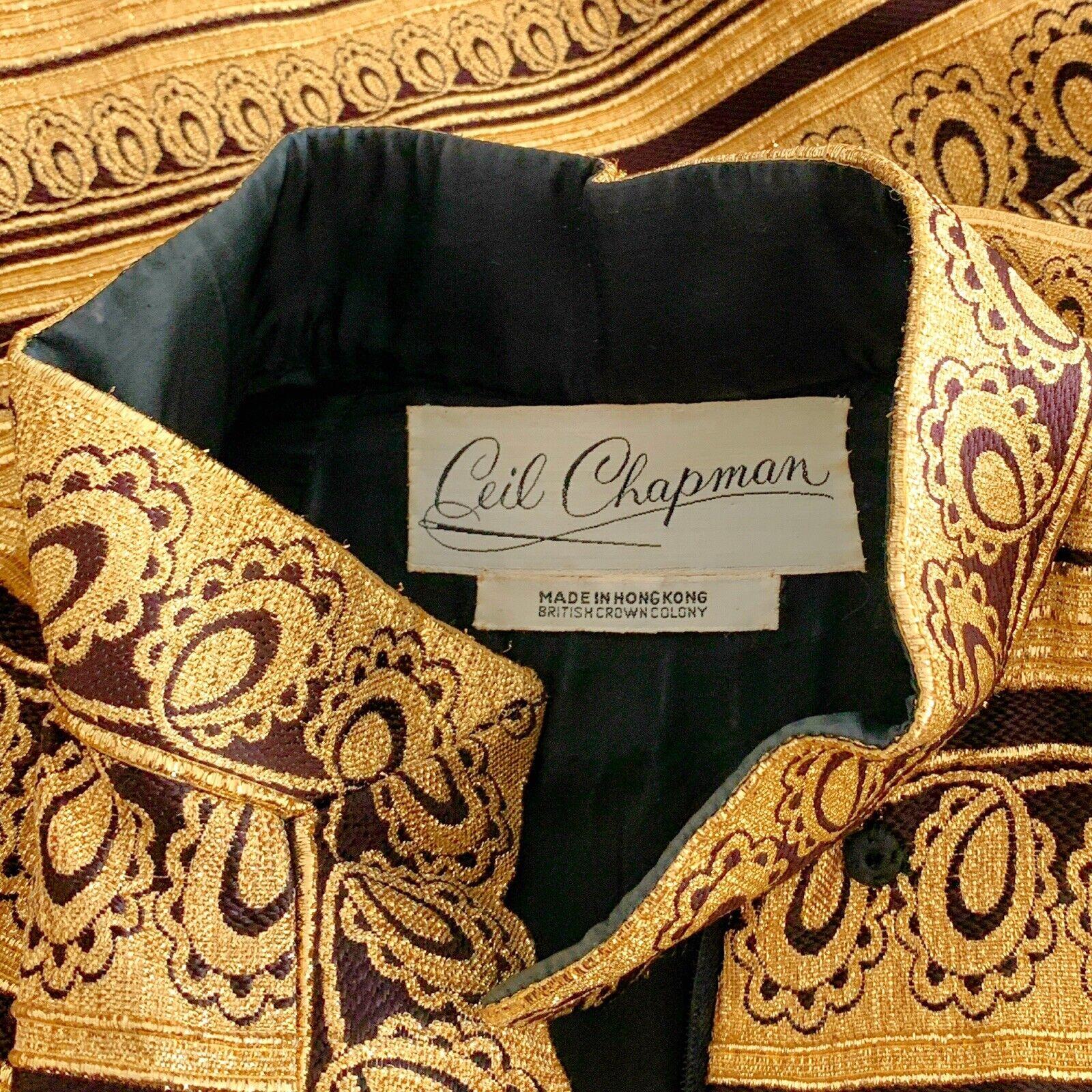 Vintage 60s Ceil Chapman Gold Metallic Brocade Mo… - image 5