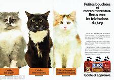 PUBLICITE ADVERTISING 016  1987  FIDO  patée pour chat (2p)