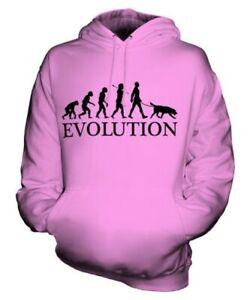 FLAT-COATED-RETRIEVER-EVOLUTION-OF-MAN-UNISEX-HOODIE-MENS-WOMENS-LADIES-DOG-GIFT