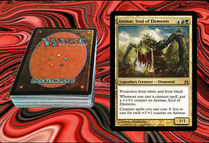 Details about ANIMAR, SOUL OF ELEMENTS Custom Magic The Gathering EDH Deck  MTG - AGGRO & COMBO