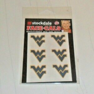 MLB-WEST-VIRGINIA-WVU-6-TEMPORARY-FACE-TATTOOS-FACE-CALS-FAST-FREE-SHIPPING