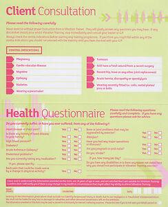 Vibración Placa Entrenamiento Cliente Ejercicio Tarjetas de Registro Consulta 25