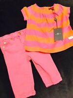 7 For All Mankind 2 Piece Outfit Pink Jeans 3-6 Months