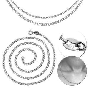 Echt-925-Sterling-Silber-Halskette-Panzerkette-Damen-Herren-Silberkette-Bis-70cm