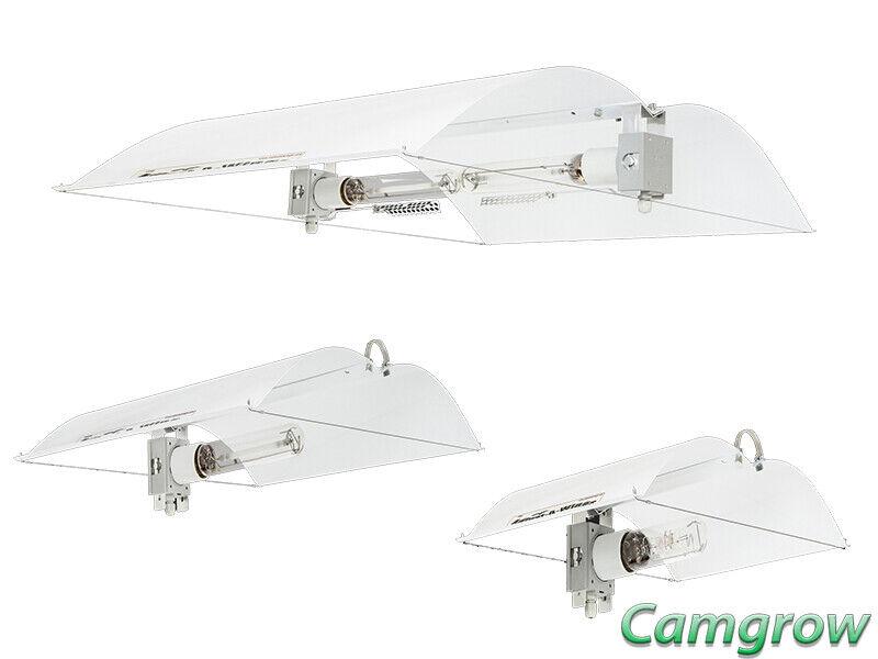 Adjust-a-Wing defensor blancoo-pequeño, mediano, grande y grandes con soportes para lámparas de 2