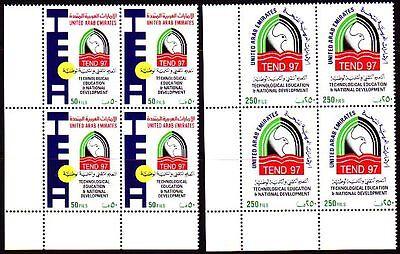 Asien Bildung Education Klug Uae 1997 ** Mi.547/48 Bl/4 Ausbildung Technik Briefmarken