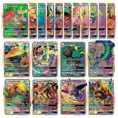 2017 Newest 20Pcs Pokemon GX Full Art Ultra Rare Card Pokémon Go GX Flash Cards