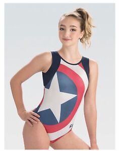 GK Elite Gymnastics Leotard Marvel Captain American Adult X-Small