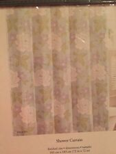Item 1 Laura Ashley Isadora Floral Fabric Shower Curtain 72x72 Aqua Blue White Purple