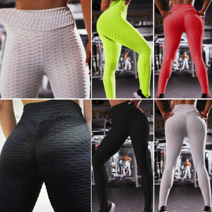 Women-Ruched-Push-Up-Leggings-Yoga-Pants-Anti-Cellulite-Sport-Scrunch-Trousers