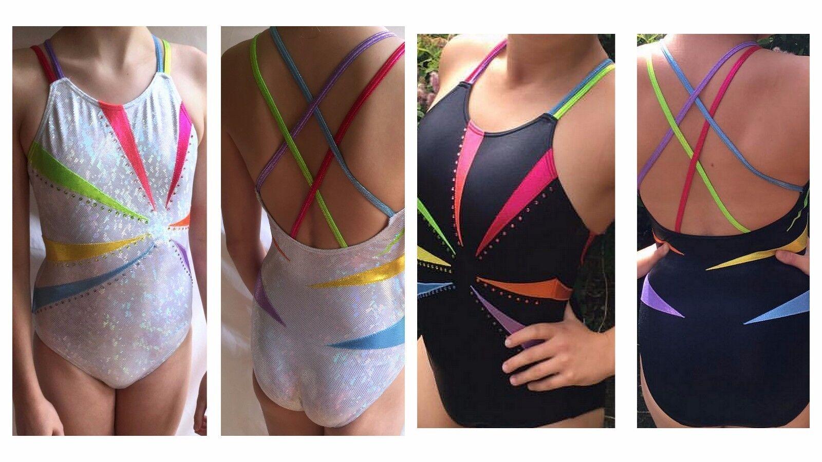 Infinity Girls Gymnastics Leotard Rainbow Mystique & Crystals