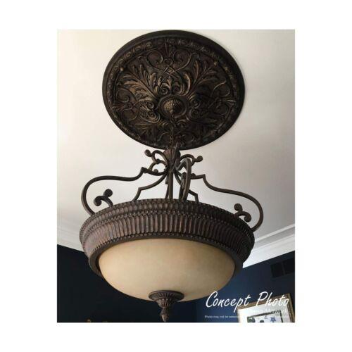 Ekena Millwork CM07EM 7 5//8-Inch OD x 1-Inch Emery Leaf Ceiling Medallion