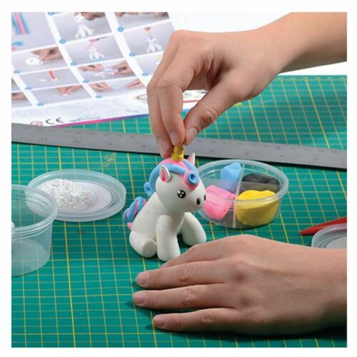 Make Your Own Dough Unicorn Model With Tools /& Clay /& Glitter