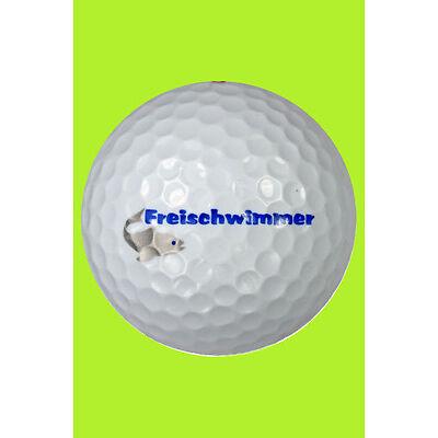 Golfball mit Spruch witzige Geschenkidee Golf Geschenk für Golfer
