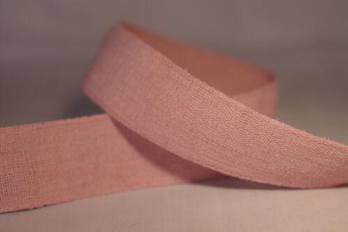 Par Le Mètre ou 15 m Roll 25 mm largeur Moderne en lin naturel ruban