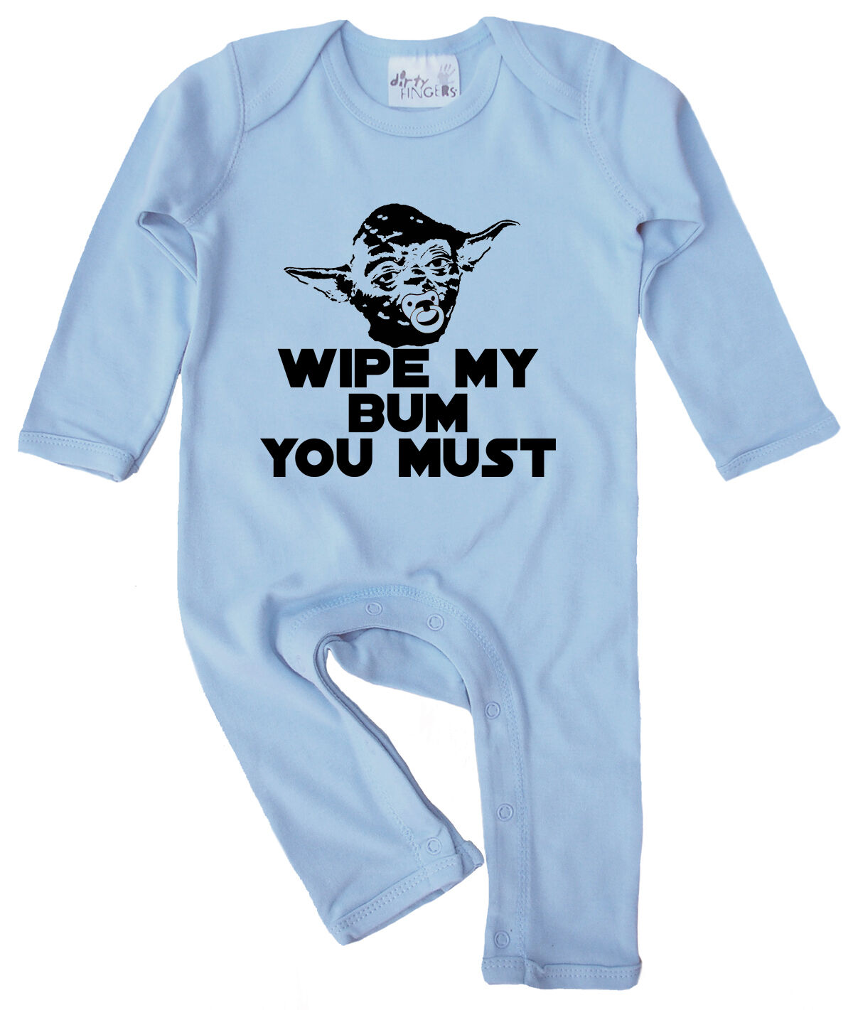 """Yoda Baby Clothes """"Wipe My Bum You Must"""" baby Romper Suit ..."""