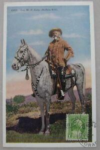 Old Postcard USA 15537 Col. WF Cody Buffalo Bill Cowboy Vintage