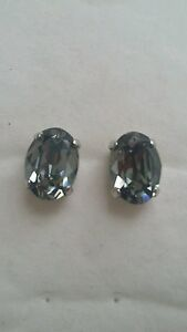 Gorgeous-Black-Diamond-Oval-Stud-Earrings-Made-in-UK