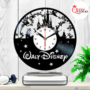 Disney-World-Theme-Castle-Logo-Vinyl-Record-Wall-Clock-Princess-Gifts-Art-Decor