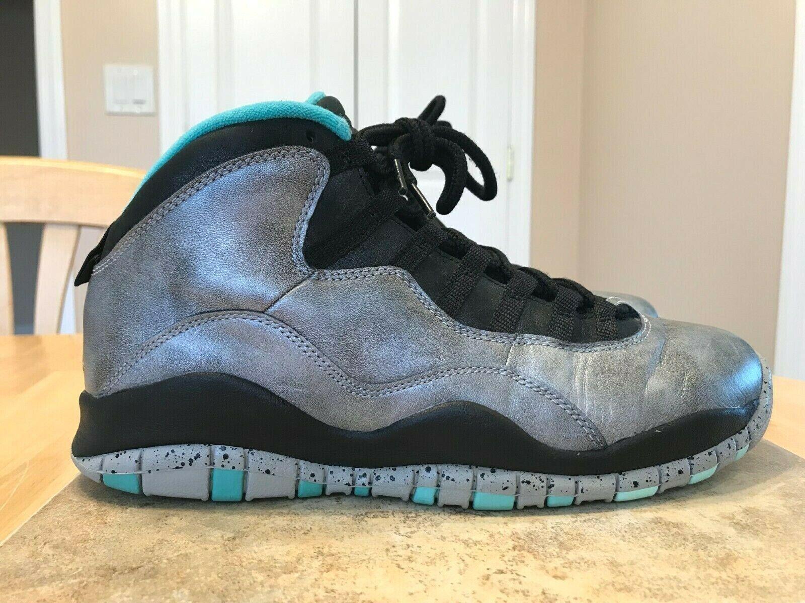 Jordan Retro 10 para hombres zapatos talla 8.5 705178 045 2014 la estatua de la libertad