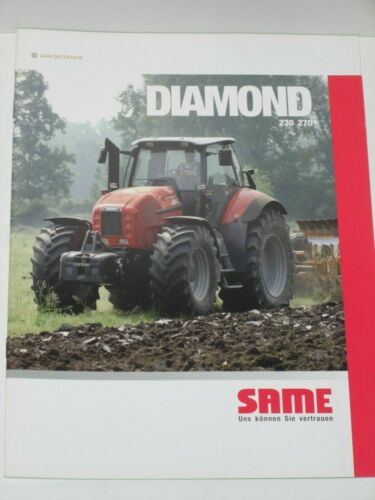 SAME DIAMOND 230 SLH 64 270 Traktoren Prospekt von 11//2008