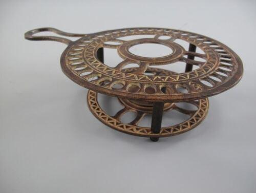 Stövchen rund rustikal braun Antik Jugendstil Deko Teelicht WARMHALTEPLATTE Grog
