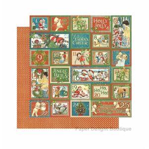 2-Sheets-Graphic-45-CHRISTMAS-MAGIC-12x12-Scrapbook-Paper-COUNTDOWN-SURPRISE