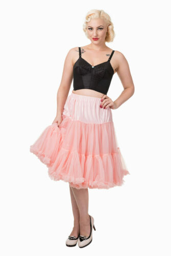 Pink 50/'s Rockabilly Super Soft 26 inches Petticoat Skirt By Banned Apparel